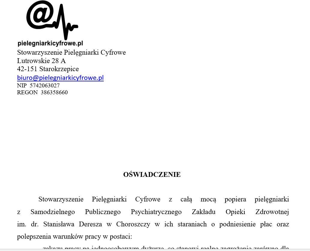 Pielęgniarki Cyfrowe wspierają Pielęgniarki z Choroszczy!