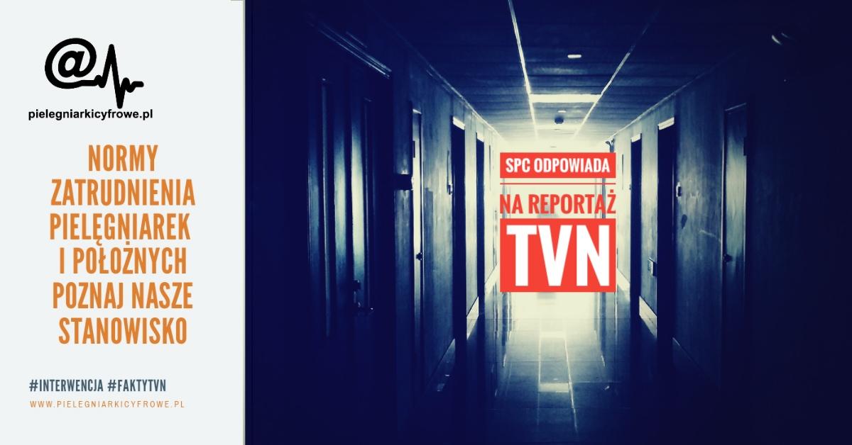 Oświadczenie SPC do Redakcji TVN w sprawie norm zatrudnienia pielęgniarek