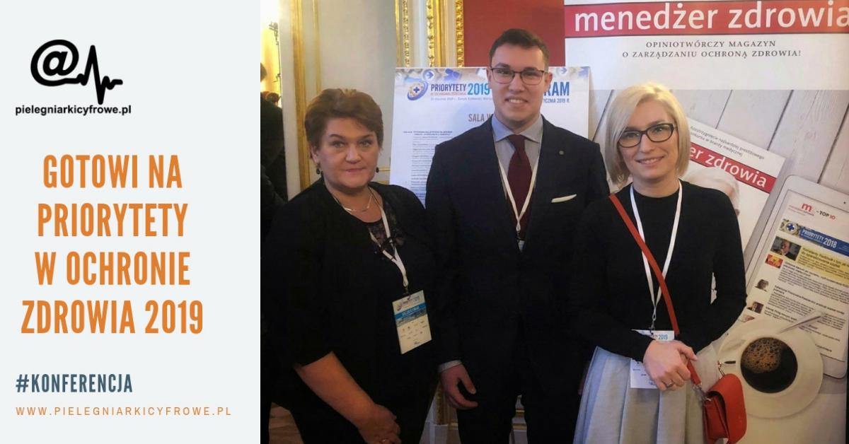 """Pielęgniarki Cyfrowe meldują swoją gotowość podczas konferencji """"Priorytety w Ochronie Zdrowia 2019"""""""