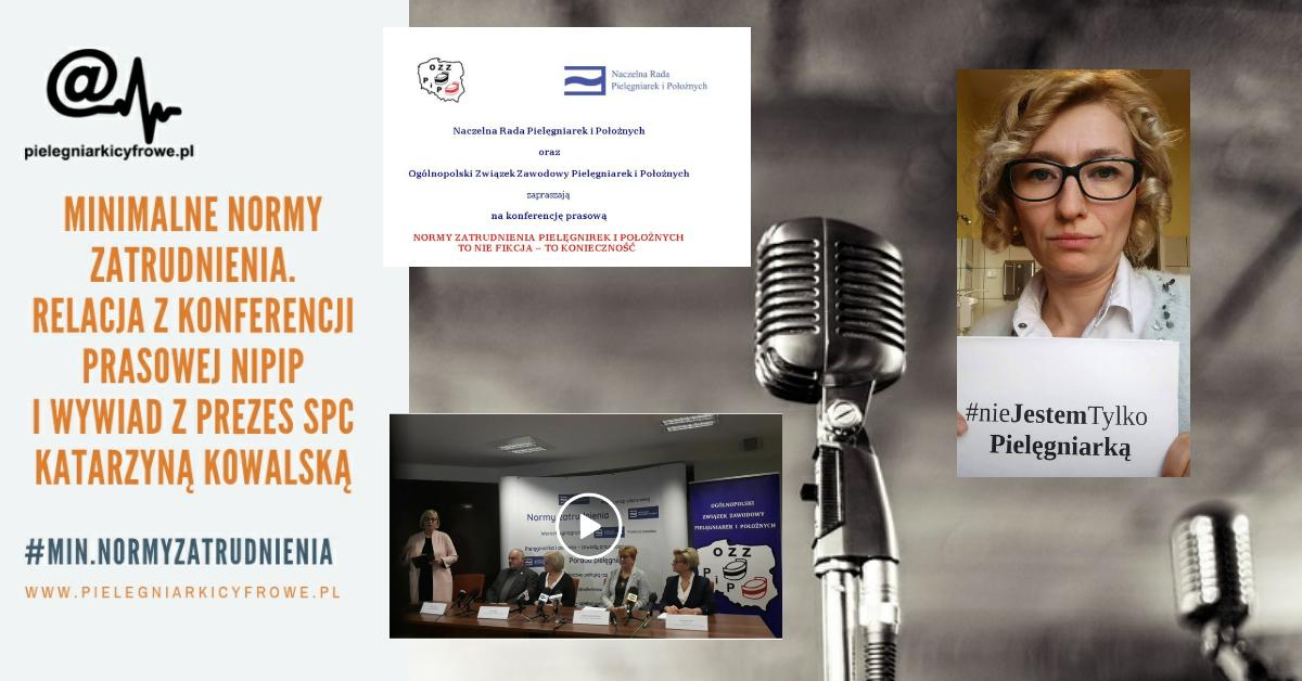Minimalne normy zatrudnienia – relacja z konferecji NIPiP i przypomnienie wywiadu z Katarzyną Kowalską