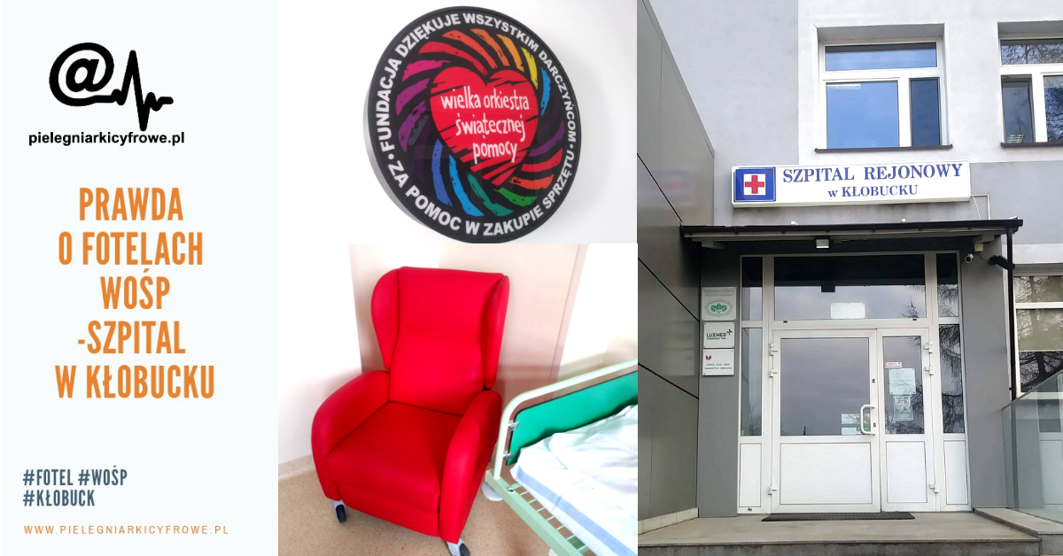 Prawda o czerwonych fotelach od WOŚP w Kłobucku – relacjonują Pielęgniarki Cyfrowe.