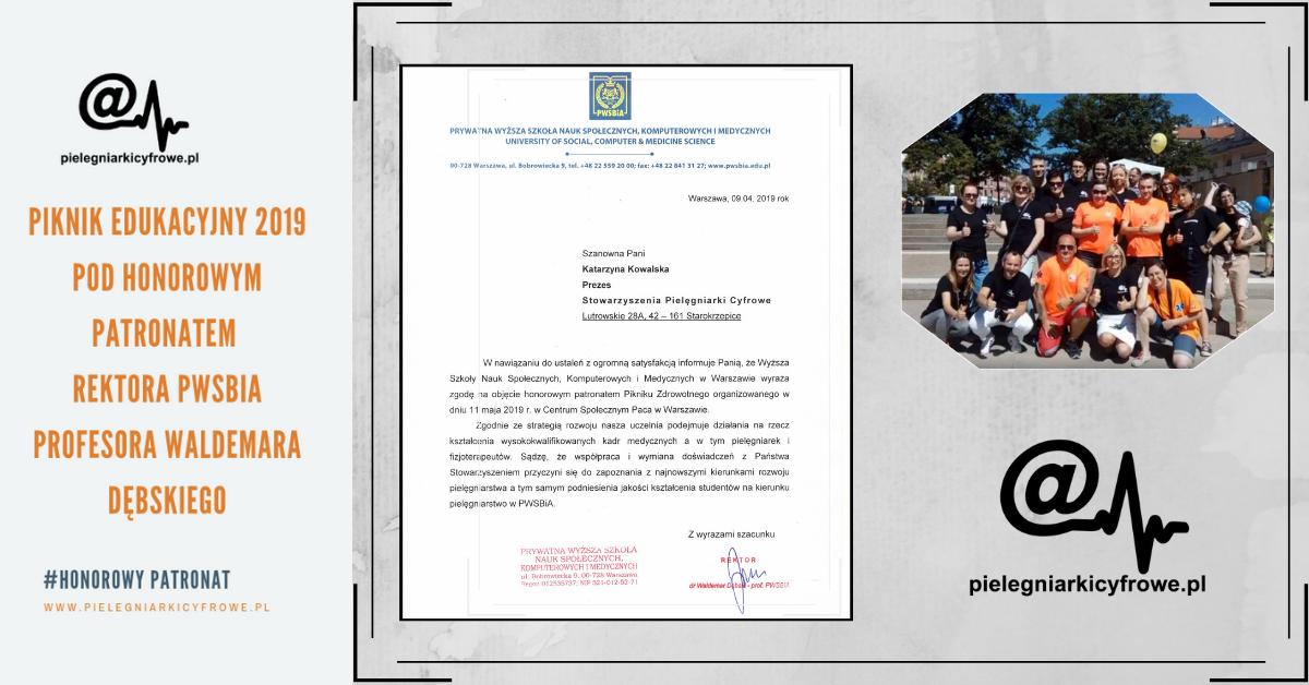 Piknik Edukacyjny 2019 pod Honorowym Patronatem Rektora Prywatnej Wyższej Szkoły Nauk SpołecznychPWSBia profesora Waldemara Dębskiego