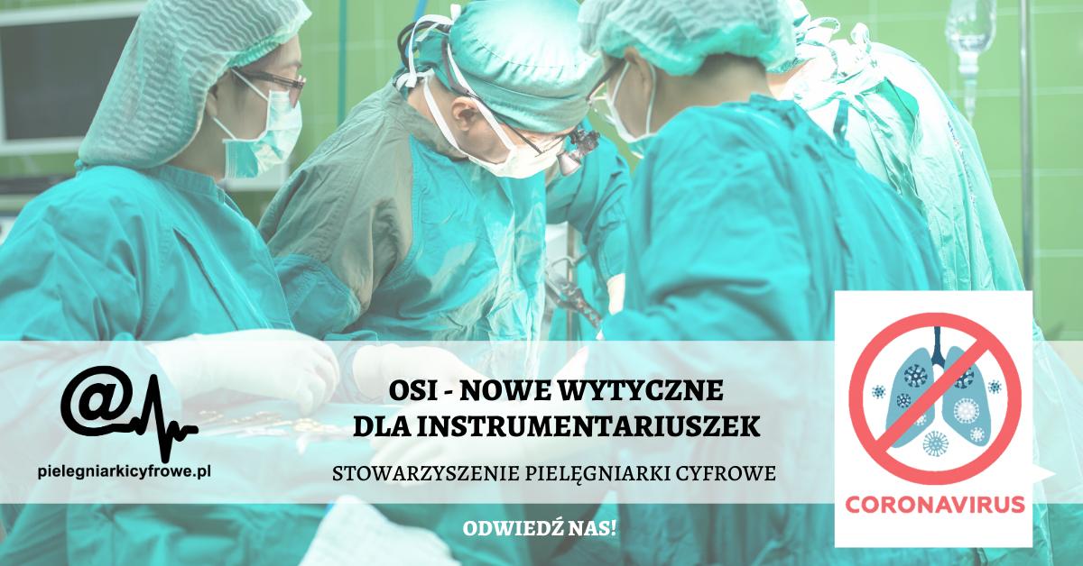 Koronawirus – aktualne wytyczne dla pielęgniarek instrumentariuszek